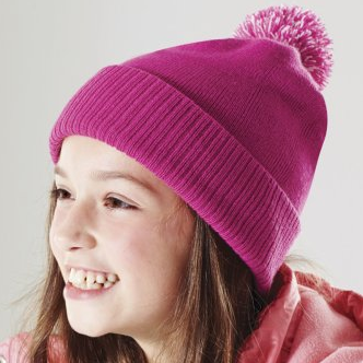 Childrens Snowstar Duo Beanie Woolly Hat  (B450B)
