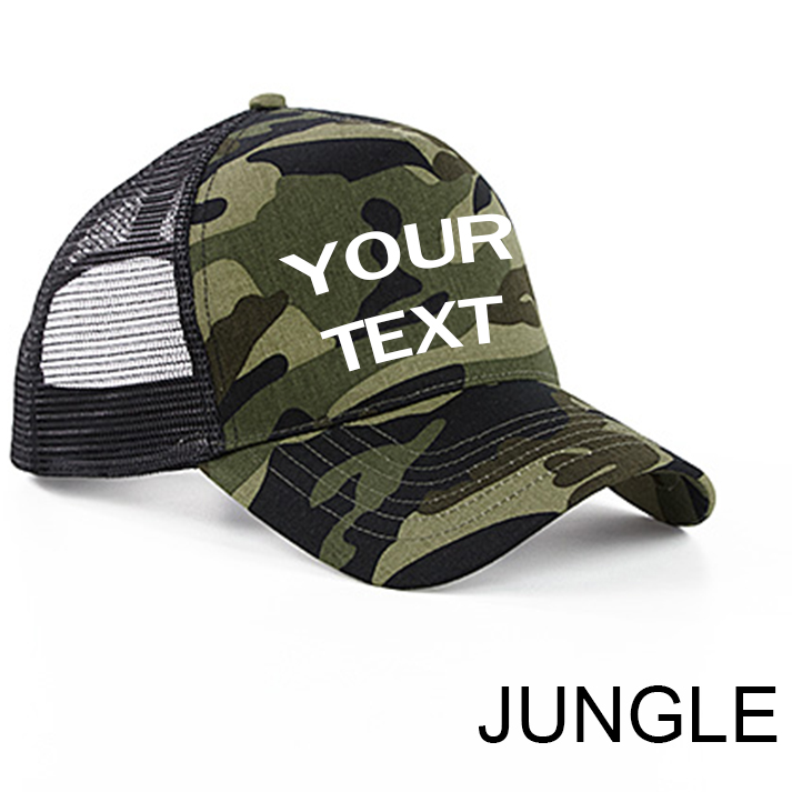 Personalised Camouflage Snapback Trucker Cap BC694 922c3a643ff
