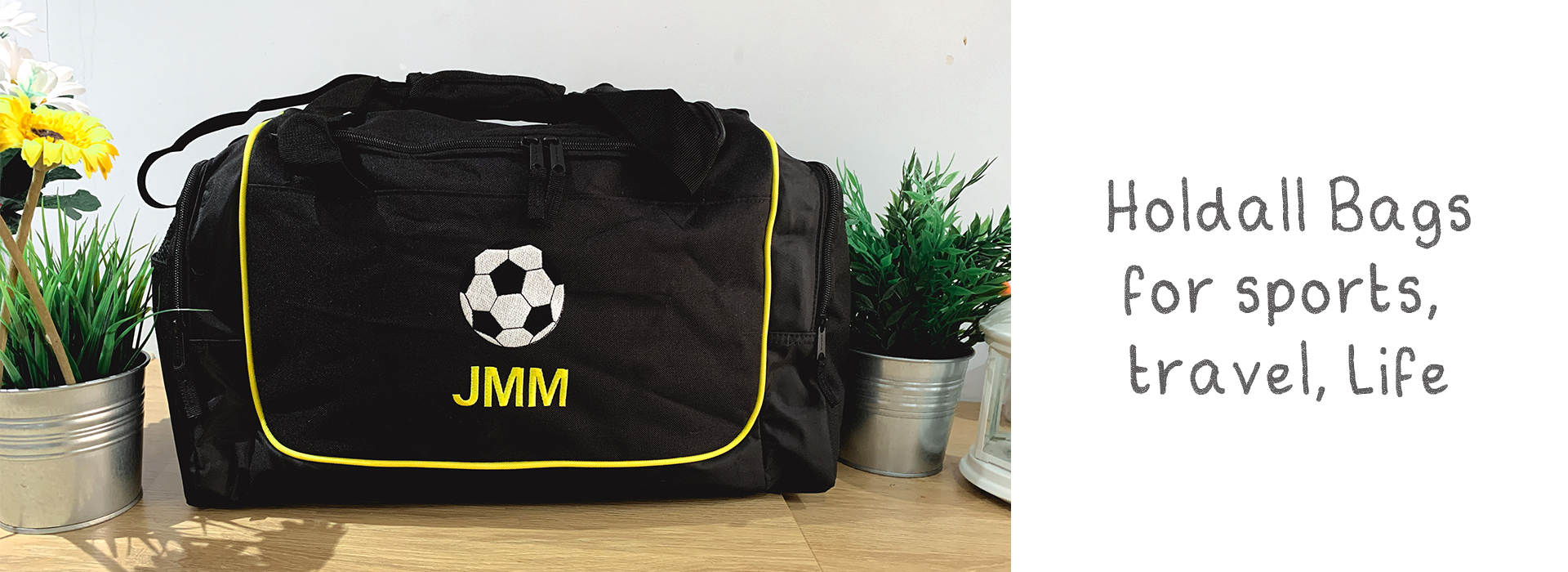 personalised bags, holdall bags, kit bags, travel bags